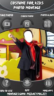 Kostým pro děti foto montáž - náhled