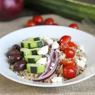Mediterranean Style Rice Salad Bowls.