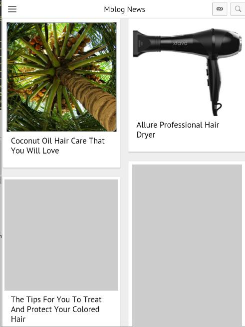 Hair Blog- screenshot