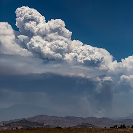 Cranston Fire by Mark Ritter - Landscapes Cloud Formations ( idyllwild, brushfire, cranston, fire, california, pyrocumulus, landscape )
