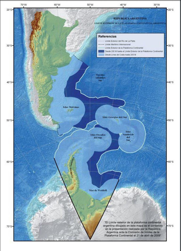 El nuevo mapa bicontinental de Argentina ubica a Tierra del Fuego en el  centro del país | Vía Ushuaia