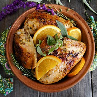 Roasted Chicken With Orange Sauce