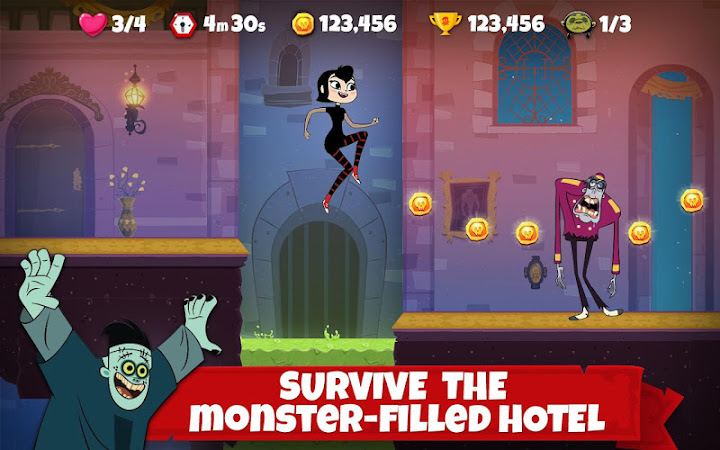 Hotel Transylvania Adventures - Run, Jump, Build! Android App Screenshot
