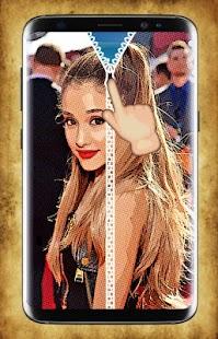 Ariana Grande Zipper Lock Screen - náhled