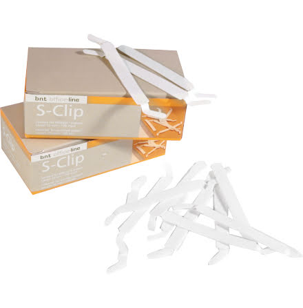 Pappersbindare S-Clip 100/fp