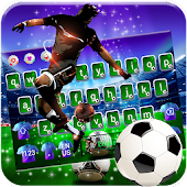 Football Superstar Glitter Keyboard Theme