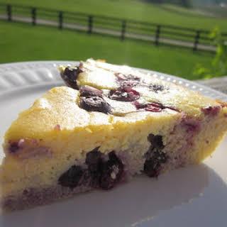 Lemon Blueberry Coconut Flour Cake.