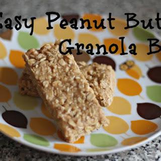 Easy 4 Ingredient Peanut Butter Granola Bars.