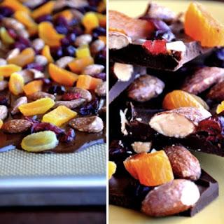 Chocolate Bark with Dried Fruit