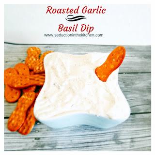 Roasted Garlic and Basil Dip Recipe