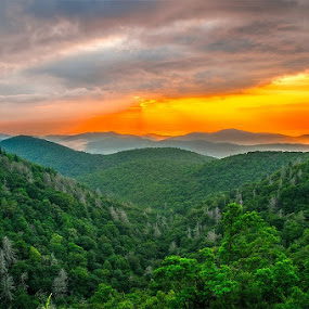 Well I finally made it to the BRP yesterday. I arrived and it was still dark. After a disappointing sunrise I saw this and pulled over on the way to Pounding Mill overlook. This was taken at East Fork Overlook. by Charles Hardin - Landscapes Sunsets & Sunrises