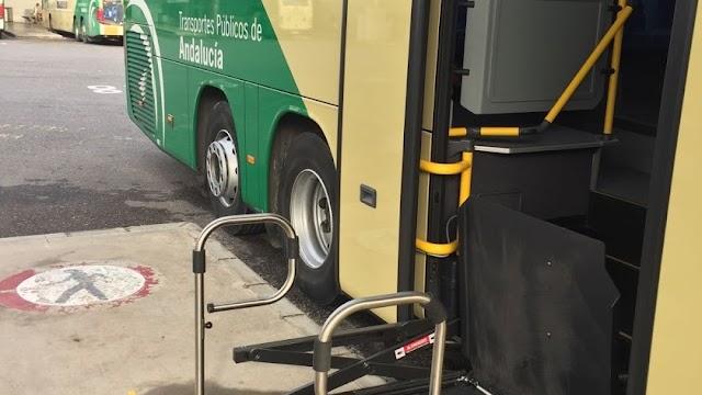 Imagen de archivo de un bus adaptado para discapacitados en la provincia.
