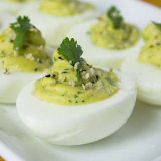 Avocado Hemp Deviled Eggs