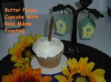 Butter Pecan Cupcake with Real Maple Frosting