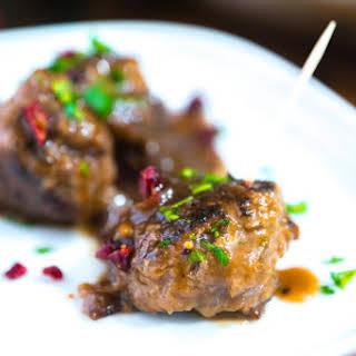 Cranberry Glazed Meatballs.