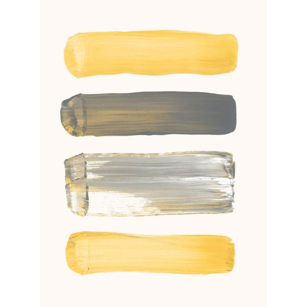 Mod Art with Black & Yellow Textured Stripes