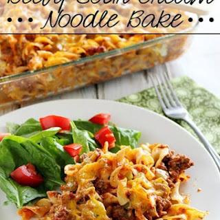 Beefy Sour Cream Noodle Bake Recipe