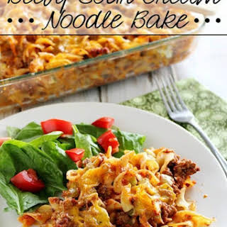 Beefy Sour Cream Noodle Bake.