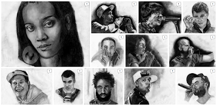 Photo: Artist portraits by Laura Tomlinson of the 12 artists interviewed in Oakland in Popular Memory