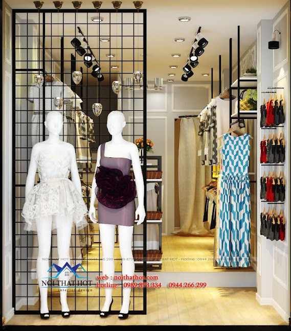 thiết kế shop thời trang nữ nhỏ 2