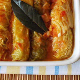 Chicken Sausage Wrapped in Cabbage.