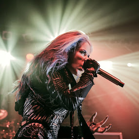 Alissa White Gluz, Arch Enemy by Paweł Mielko - People Musicians & Entertainers ( music, concert, vocal, onstage, concert photography, stage, vocalist, lights, metal, alissa white gluz, arch enemy, melodicdeathmetal, metalband, concertgig, metal music, portraits,  )