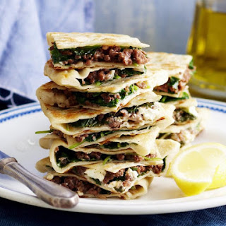 Turkish Lamb and Spinach Flatbread.