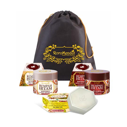Paket Starter Rempah Hitam RoroMendut cream roro mendut krim wajah herbal aman ibu menyusui hamil