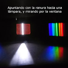 Photo: Listo! Funciona muy bien, y hasta se pueden sacar fotos de los espectros (que de todos modos se ven mejor a simple vista...)