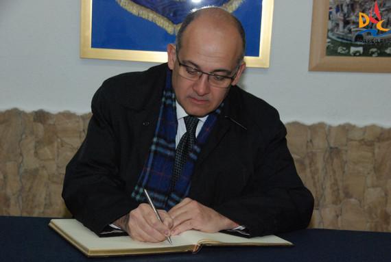 Joan Calabuig en la Falla del Duc