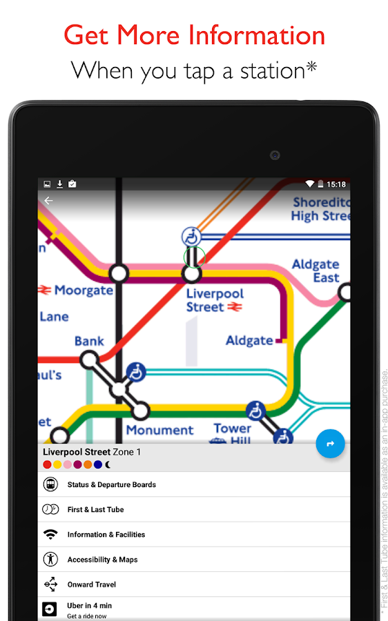 Tube Map - TfL London Underground route planner- screenshot