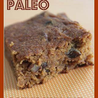 Paleo Pumpkin Pie Brownies made with Coconut Flour, Pecans and Raisins.