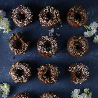 Nutty Chocolate Protein Donuts.