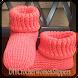 DIYのかぎ針編みの女性のスリッパ