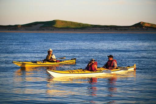 Kayaking at Hog Island in Malpeque Bay, Prince Edward Island, Canada.