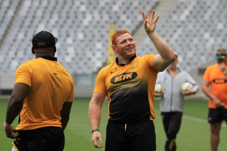 Steven Kitshoff during the South African national rugby team training session at Cape Town Stadium on October 02, 2017 in Cape Town.