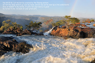 Photo: Top of of the Ruacana waterfalls, Namibia at sunrise