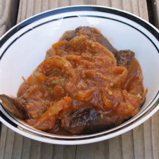 Eggplant in Spicy Tomato Sauce.