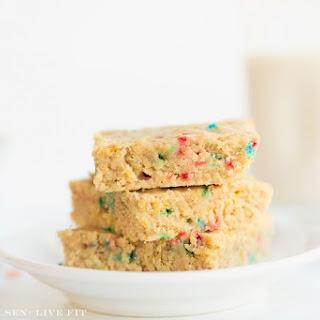 Confetti Cake Batter Blondies Recipe