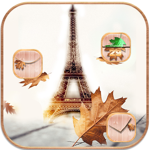 Autumn Paris Tower Theme Android APK Download Free By Cool Soloto Themes
