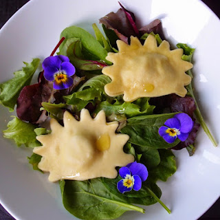 Hedgehog Shaped Ravioli With A Potato, Olive And Rosemary Filling.
