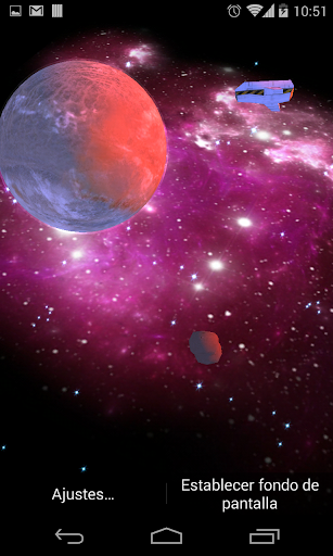 3D Galaxy Live Wallpaper HD screenshots 3