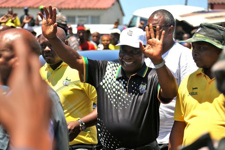 ANC president Cyril Ramaphosa gets a warm welcome in Duncan Village near East London on Friday, January 12 2018.   Picture: DAILY DISPATCH/MARK ANDREWS