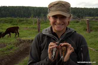 Photo: Georgy's Photo: Liz poses with a rustica and a tytleri in the contact zone