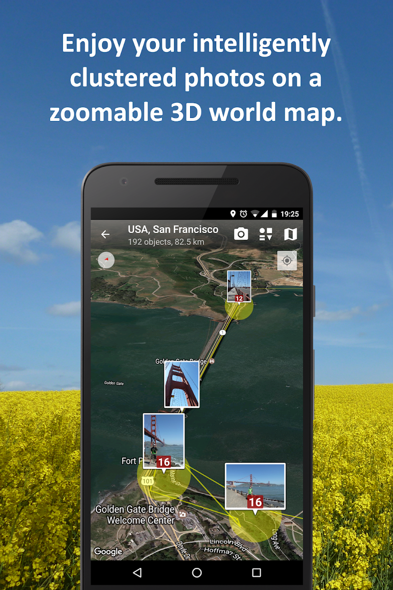 PhotoMap Gallery - Photos, Videos and Trips Screenshot 2