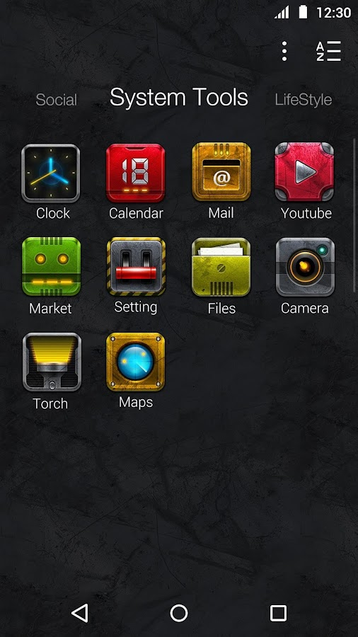 Metal Style:DU Launcher Theme- screenshot