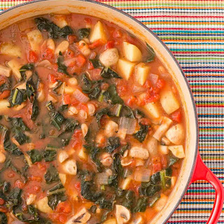 Tuscan Chicken Soup with Potatoes and Kale.