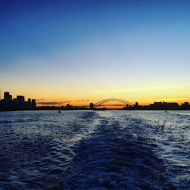 Sydney Sunset by Doug MacAskill - Novices Only Landscapes ( water, sunset, harbour, sydney, city )