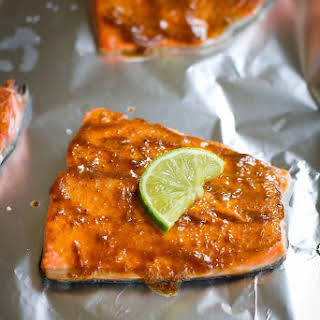 Quick Curry Salmon.