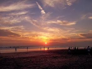 Photo: sunset at kuta beach